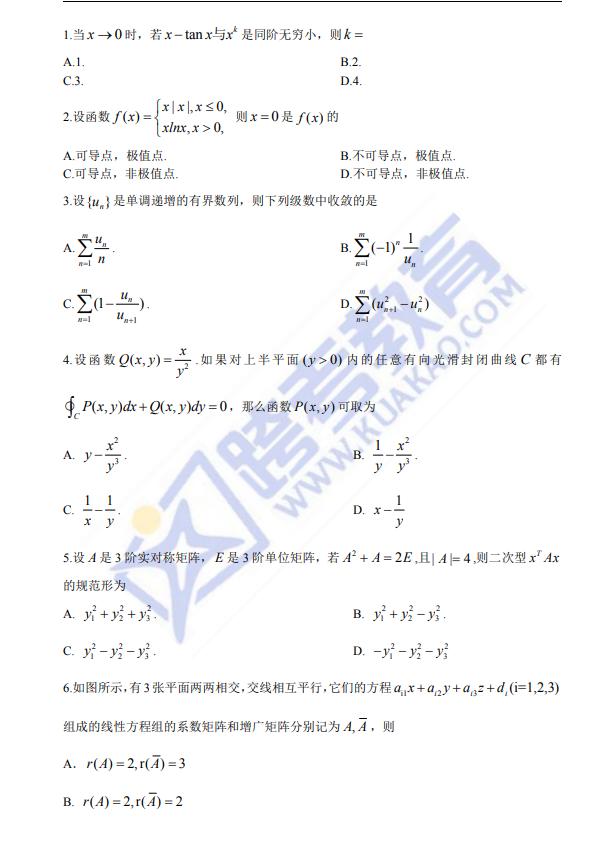 考研数学真题下载
